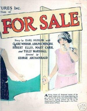 Фільм «For Sale» (1924)